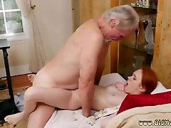 Brunette licks and fucks old man Online