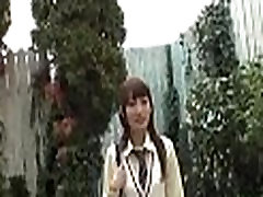 Oily pussy schoolgirl takes sex-toy