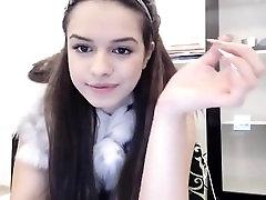 Curvy latin teen babe teases on her webcam show