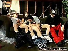 Gay twink cock and ball Garage Smoke Orgy