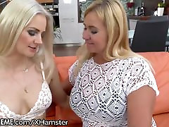 Lesbian Granny Ass Licked by Young Blonde Babe