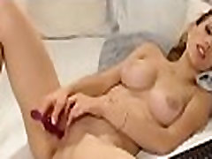 Home alone busty pussy cumming