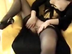 Pierced corseted self-massage