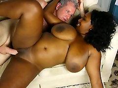 Busty black BBW loves a hard fucking and a facial cumshot