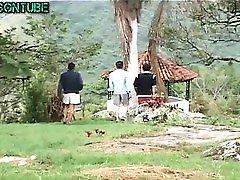 Group Hard Lovely Gay Twinks in Garden