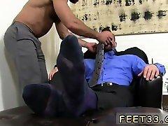 Black naked men feet gay Hugh Hunter Worshiped Until He Cums