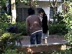 Japanese mature seduces Young girl
