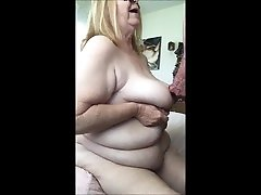 COCK IN HER MOUTH CUM ON HER TITS