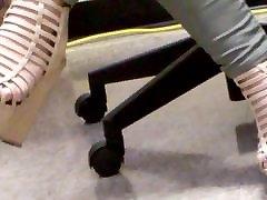 Wedge High Heels Black Toes
