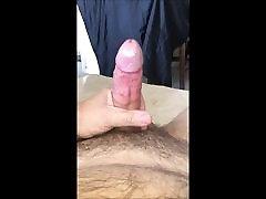 Masturbation with huge spurting load