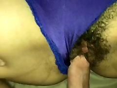 Fuck my wifes wet hairy pussy and cum on her sexy panties