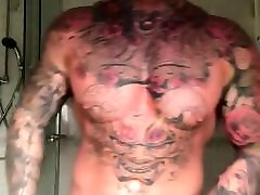 Tattoed guy and huge cock 3