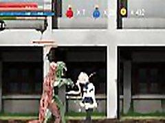 Hentai Game Ryona Fighting girl Mei gameplay . Teen Girl in sex with aliens