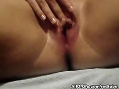 Shaved pussy fingeres closeup