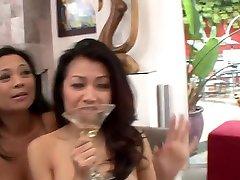 Asian lesbian threesome