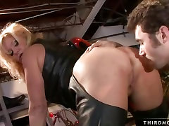 Sexy Ginger Lynn gets her sweet pink wet pussy fucked hard from behind