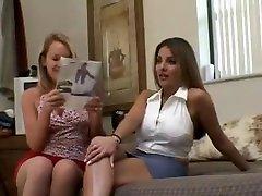 Amazing Blonde, Lesbian sex video