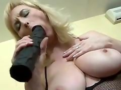 Pale Milf Granny Loves a Real Black Thick Cock