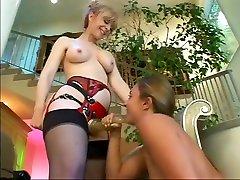 Exotic pornstars Nina Hartley and Lexi Love in horny blowjob, big butt sex scene