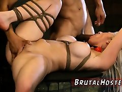 Brutal group and s play rough Big-breasted blondie