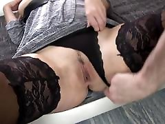 Busty red MILF suck and fuck big dick