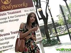 Tuk Tuk Patrol - Sexy Thai girl takes on big white cock