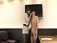 Hot sweetheart dominates colleague