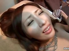 Petite Japanese milf with small tits