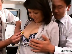 Sexy asian babe sucks on a cock part3