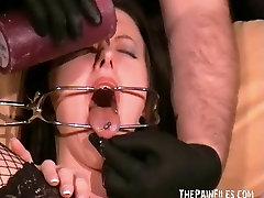 Slutty Emily Sharpes painful medical examination