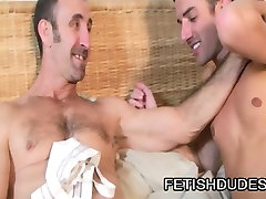 Hot DILF Steven Richards toying his cock
