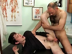 Patient gets his prostate massaged by gay doctor