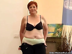 68 year old granny masturbates her sweet matured cunt