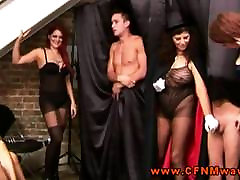 Hottest cfnm femdoms dominating