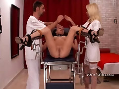 Medical bdsm and extreme doctors fetish of crying amateur