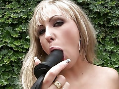 Awesome Adriana Russo toy fucks her wet pantie pot