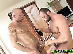 Straight bear turns to suck dick