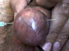 Electro Dick Needles Balls. Testicles Electric Torture