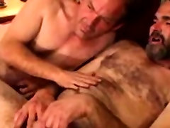 Hairy straight bear toys with redneck cock