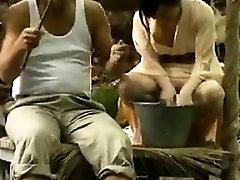 Fucking Asian Pussy Outside