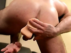 Muscly bear toys and tugs