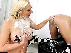 Enema loving slut tight ass toy drilled
