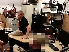 Amateur hunk getting his cock sucked at the pawn shop