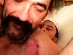Horny straight mature bears gag on cock