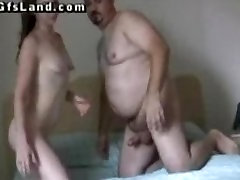 Old dude fucks a young redhead