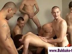 Cum addicted twink slut bukkaked