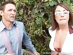 SchoolGirl Freakes Out After Older Man Creampies Her Tight Pussy