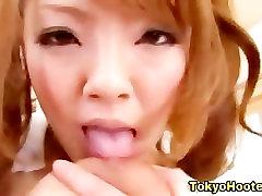 Asian big hot tits get a cumshot