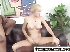 Cougars interracial pussy ravaging