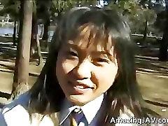 Asian girl sucking and fucking huge part1